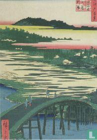 Sugatami bridge, Omokage bridge and Jariba at Takata, 1857