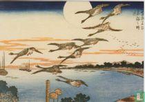 Full moon at Takanawa, 1832
