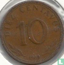 Bolivia 10 centavos 1969