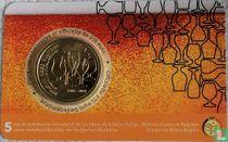 "Belgium 2½ euro 2021 (coincard - FRA) ""5 years of Belgian beer culture"""