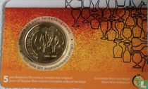 "Belgium 2½ euro 2021 (coincard - NLD) ""5 years of Belgian beer culture"""