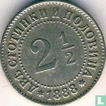 Bulgarije 2½ stotinki 1888