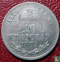 Hongarije 10 krajczár 1873