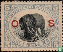 Olifant met opdruk