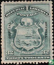 Wapen van Liberia met opdruk