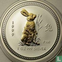 """Australië 1 dollar 1999 (gekleurd) """"Year of the Rabbit"""""""