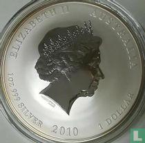 "Australië 1 dollar 2010 (gekleurd) ""Year of the Tiger"""