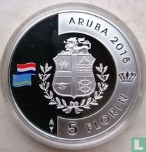 "Aruba 5 florin 2015 (PROOF) ""200 years Kingdom of the Netherlands"""