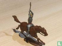 Wapenknecht met bijl te paard