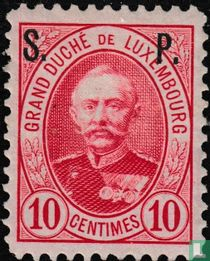 Groothertog Adolf met opdruk S.P.