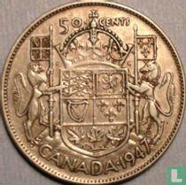Canada 50 cents 1947 (zonder esdoornblad na jaartal - rechte 7)