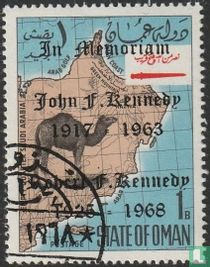 Map of Oman with Kennedy imprint