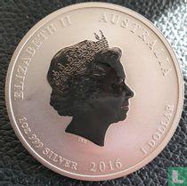 "Australië 1 dollar 2016 (gekleurd) ""Year of the monkey"""
