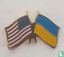 Vlag Amerika/Oekraïne