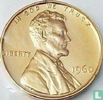 Vereinigte Staaten 1 Cent 1960 (PP - große Datum)