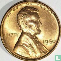 Vereinigte Staaten 1 Cent 1960 (ohne Buchstabe - große Datum)