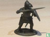 Ridder met zwaard en schild