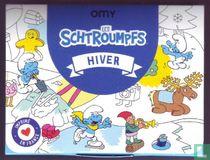 Les Schtroumpfs - Le Grand Poster Hiver (à colorier)