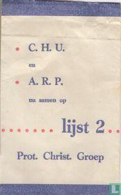C.H.U. en A.R.P. nu Samen op Lijst 2