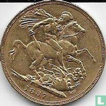 Australië 1 sovereign 1887 (blote hoofd - S)