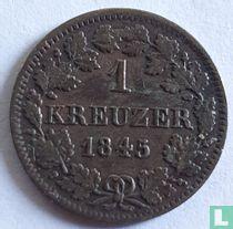 Beieren 1 kreuzer 1845