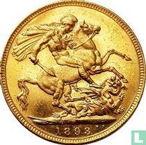 Australië 1 sovereign 1893 (met JEB - M)