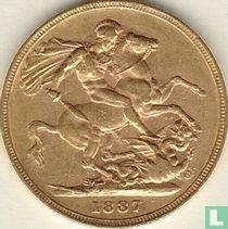 Australië 1 sovereign 1887 (blote hoofd - M)