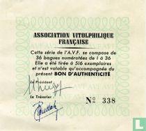 Echtheidskaart A.V.F.