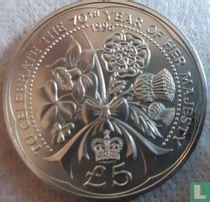"Alderney 5 pounds 1996 ""70th Birthday of Queen Elizabeth II"""