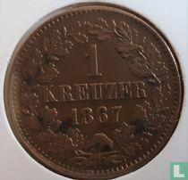 Baden 1 kreuzer 1867