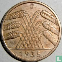 Duitse Rijk 10 reichspfennig 1935 (G)