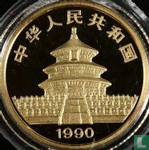 "China 10 yuan 1990 (PROOF - goud) ""Panda"""