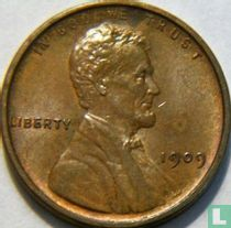 Vereinigte Staaten 1 Cent 1909 (Lincoln - ohne Buchstabe - mit VDB - Typ 1)