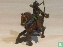 Mongoolse boogschutter te paard