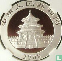 "China 10 yuan 2008 (kleurloos) ""Panda"""