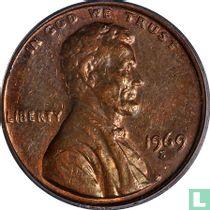 Vereinigte Staaten 1 Cent 1969 (S - Typ 2)