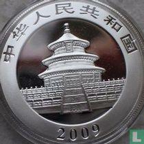 "China 10 yuan 2009 (kleurloos) ""Panda"""