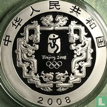 """China 10 yuan 2008 (PROOF) """"Summer Olympics in Beijing - Child with kite"""""""