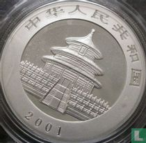 "China 10 yuan 2001 (kleurloos) ""Panda"""