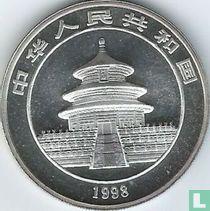 "China 10 yuan 1998 (zilver - kleurloos) ""Panda"""