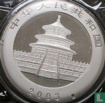 "China 10 yuan 2003 (kleurloos) ""Panda"""
