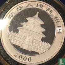 "China 10 yuan 2000 (gekleurd) ""Panda"""