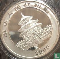 "China 10 yuan 2000 (kleurloos) ""Panda"""
