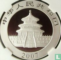 "China 10 yuan 2007 (kleurloos) ""Panda"""