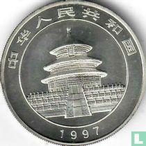 "China 10 yuan 1997 (zilver - kleurloos) ""Panda"""