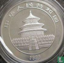 "China 10 yuan 1999 (zilver - kleurloos) ""Panda"""