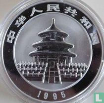 """China 10 yuan 1995 (PROOF - zilver) """"Panda"""""""