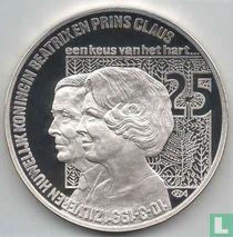 """Nederland 25 Ecu 1991 """"Zilveren huwelijk Beatrix en Claus"""""""