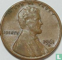 Vereinigte Staaten 1 Cent 1961 (D - Prägefehler)