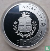 "Aruba 5 florin 2020 (PROOF) ""Hummingbird"""